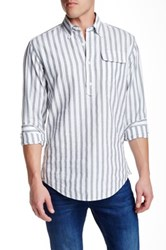 Gant The Mb Striped Long Sleeve Pullover Regular Fit Shirt Gray