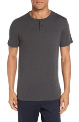Theory Men's 'Gaskell' Henley T Shirt Thunder Charcoal