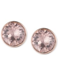 Lonna And Lilly Rose Gold Tone Crystal Stud Earrings Pink