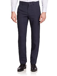 Giorgio Armani Virgin Wool Trousers Navy
