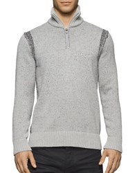 Calvin Klein Jeans Speckle Plated Sweater Light Grey