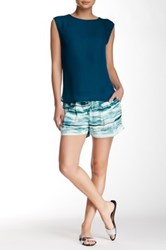 Haute Hippie Summer Silk Short Blue