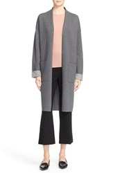 Theory Women's 'Armelle N Evian' Stretch Sweater Coat Grey Melange Ivory Ice