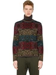 Antonio Marras Wool Jacquard Turtleneck Sweater