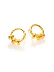 A Peace Treaty Makru Ring Earrings Gold