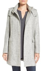 Kenneth Cole Women's New York Hooded Boucle Coat