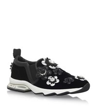 Fendi Flower Applique Trainers Female Black