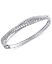 Effy Collection Pave Classica By Effy Diamond Bangle 1 Ct. T.W. In 14K White Gold