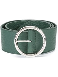 Orciani Wide Round Buckle Belt