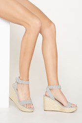 Forever 21 Striped Espadrille Wedges