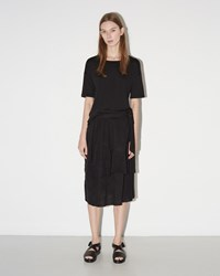 Raquel Allegra Crinkle Skirt Black