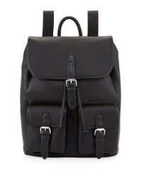 Robert Graham Johnson Leather Flap Top Backpack Black