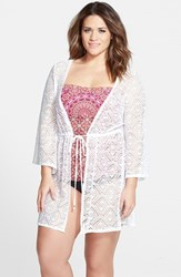 Plus Size Women's Jessica Simpson Crochet Cover Up