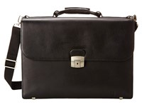 Hartmann Heritage Flap Brief Black Briefcase Bags