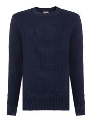 Peter Werth Stage Chunky Crew Neck Jumper Navy