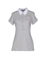 Aeronautica Militare Topwear Polo Shirts Women Light Grey