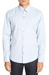 Zachary Prell Men's 'Denny' Regular Fit Jacquard Sport Shirt
