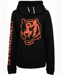 Junk Food Women's Cincinnati Bengals Logo Funnel Hoodie Black