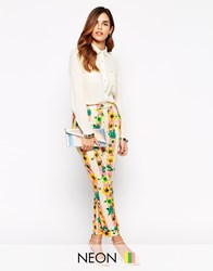 Jovonna Trousers In Stripe And Floral Print