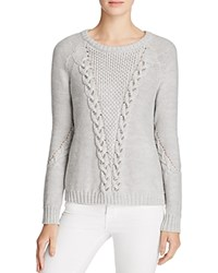 Ramy Brook Leandre Cable Sweater Silver