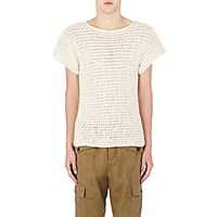 Loewe Men's Open Stitched Sweater Ivory