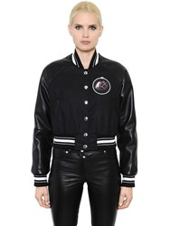 Givenchy Cotton Canvas And Leather Teddy Jacket