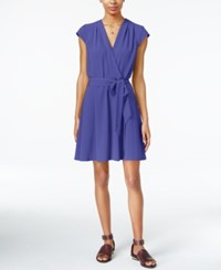 Maison Jules Cap Sleeve Wrap Dress Only At Macy's Amparo Blue
