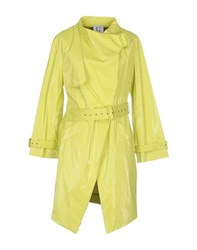 Uniqueness Coats And Jackets Full Length Jackets Women Acid Green