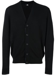 Paul Smith Ps By V Neck Button Down Cardigan Black