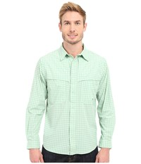 Mountain Khakis Skiff Shirt Celery Multi Men's Long Sleeve Button Up Green