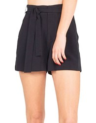 Kendall Kylie Paper Bag Shorts Black