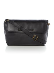 Ugg Jenna Black Medium Flapover Crossbody Bag Black