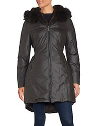 Dawn Levy Fur Trimmed Hooded Coat Sprout