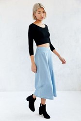 The Fifth Label City Safari High Rise Culotte Pant Vintage Denim Light