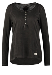 Khujo Enita Long Sleeved Top Charcoal Anthracite