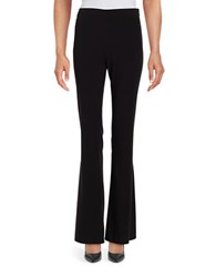 T Tahari Form Fitting Flared Pants Black