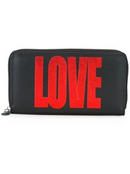 Givenchy Love Print Zipped Wallet Black