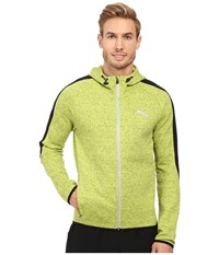 Puma Evostripe Proknit Full Zip Hoodie Limepunch Heather Men's Sweatshirt Yellow