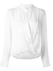 3.1 Phillip Lim Draped Blouse Nude And Neutrals
