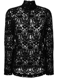 Dkny Velvet Lace Blouse Black