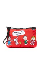 Le Sport Sac Peanuts X Lesportsac Essential Wristlet Fun With Friends Red