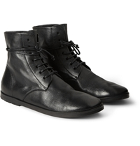Marsell Textured Leather Lace Up Boots