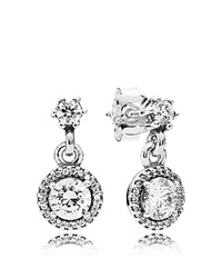 Pandora Design Pandora Earrings Sterling Silver And Cubic Zirconia Classic Elegance