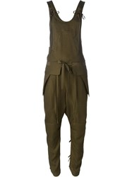 Chloa Drop Crotch Jumpsuit Brown