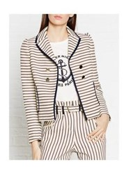 Tara Jarmon Striped Blazer Cream