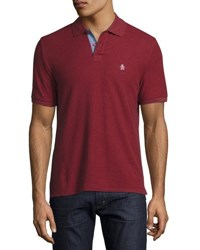 Original Penguin Cotton Polo Shirt Red