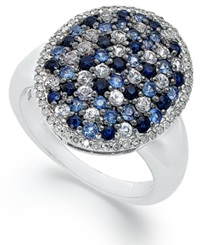 Macy's Sterling Silver Ring Sapphire Oval Ring 1 1 4 Ct. T.W.