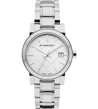 Burberry Bu9100 Stainless Steel Watch Silver