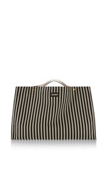 Marni Striped Canvas Tote Black