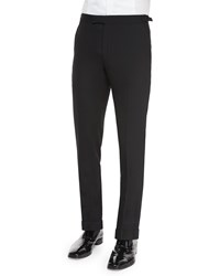 Ralph Lauren Black Label Anthony Formal Wool Trousers Black